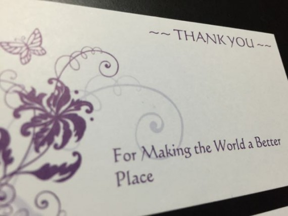 Special Thank You cards