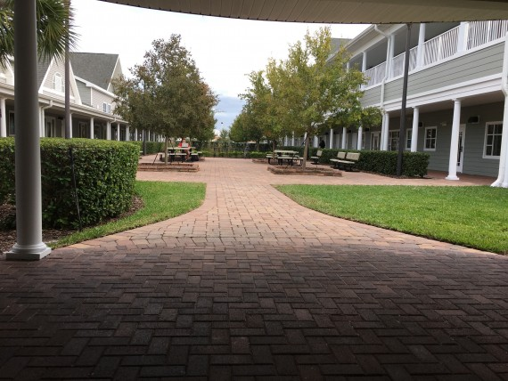 Windermere Prep High School courtyard