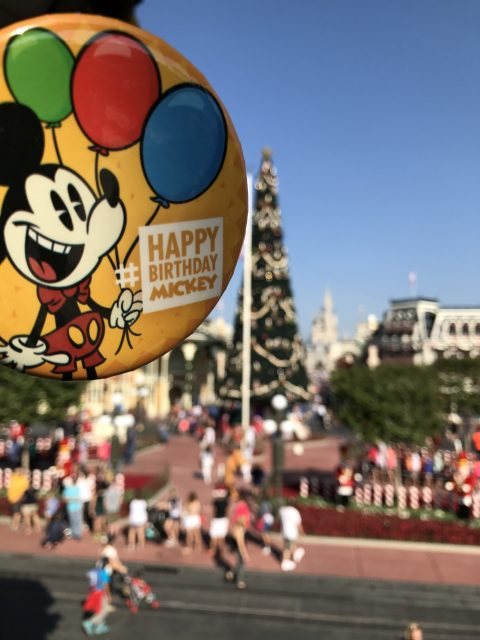 Mickey Mouse birthday button 2016