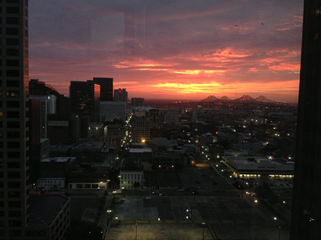 New Orleans sunrise from Hyatt Regency