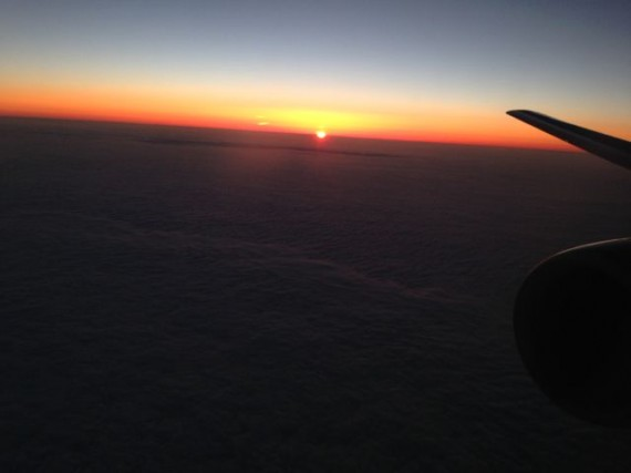 Sunset from delta flight 1669 arriving Orlando 8:47pm