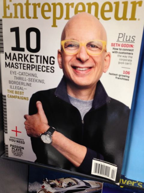 Seth Godin on the cover of Entrepreneur magazine