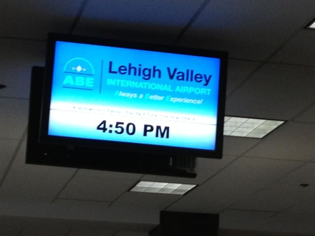 Lehigh Valley International Airport monitor