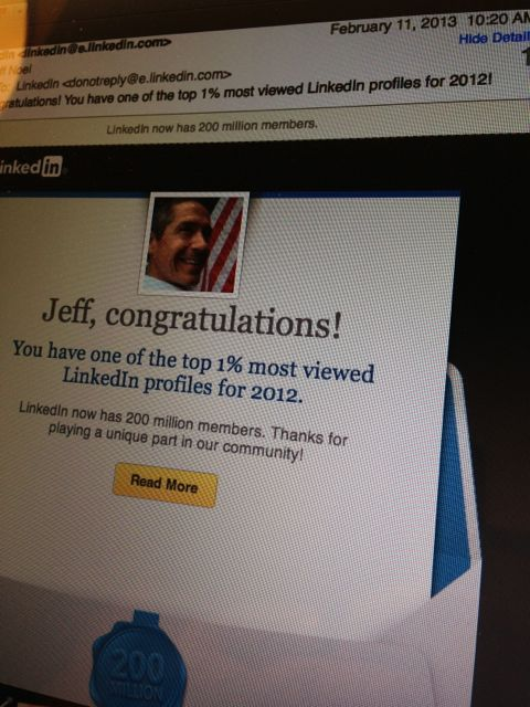 jeff noel's linkedin profile recognition