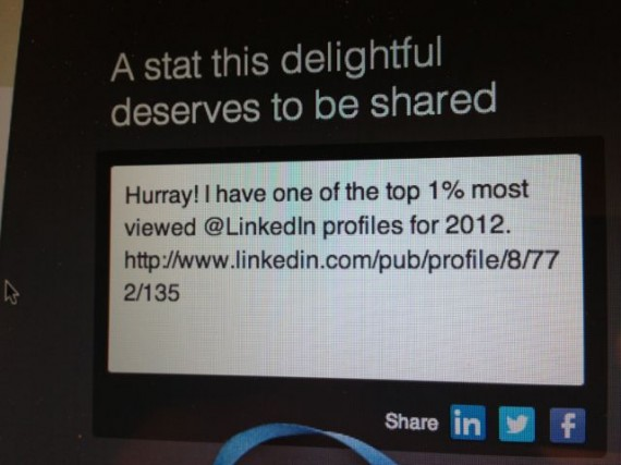 LinkedIn accolade for Baby Boomer jeff noel