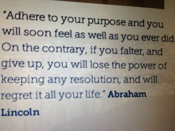 Abraham Lincoln quote on life's purpose