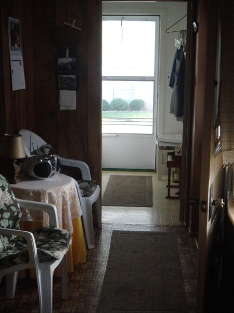 an unheated enclosed porch on an old house