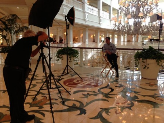 Disney Cast Member photo shoot at Disney's Grand Floridian Resort and Spa