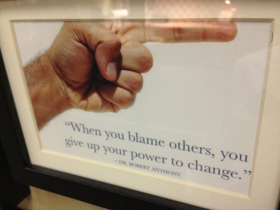 motivational quote about blame