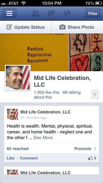 Mid Life Celebration Facebook Page
