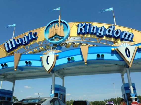 Disney World's Magic Kingdom toll plaza