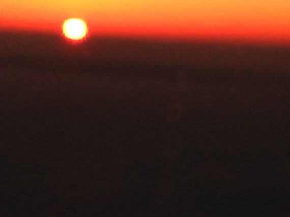 sunset from jet plane