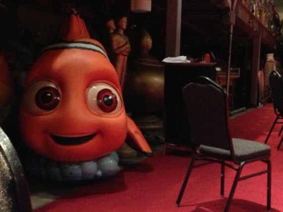 Large Nemo fish prop in classroom