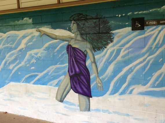 Hawaiian Island High School wall mural