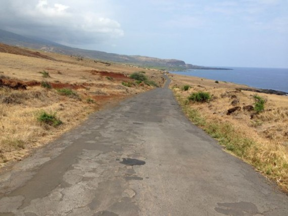 A solitary perimeter road on southeastern Maui