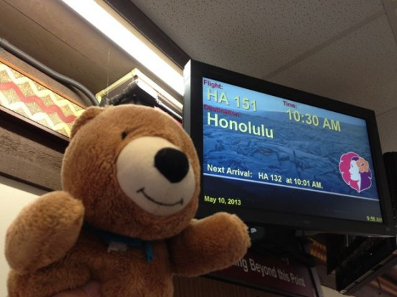 Hilo airport Hawaiian Air flight schedule monitor