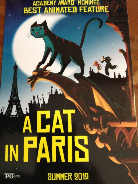 Poster of a cat in Paris