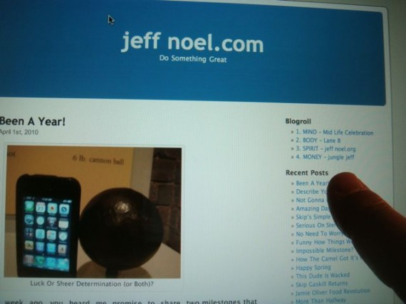 jeff noel's early website and blogs