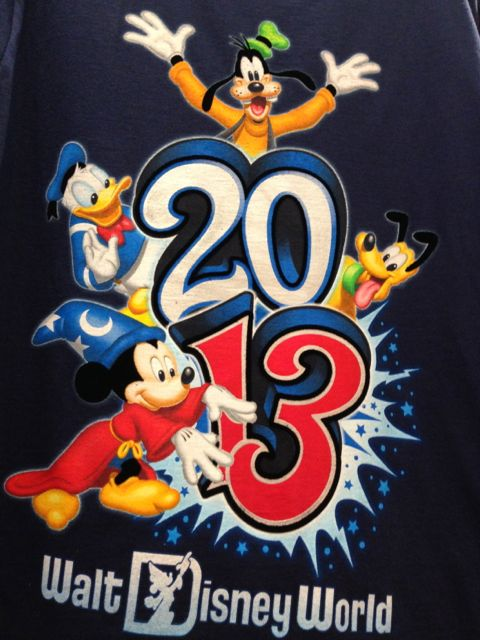 2013 Disney World tee shirt featuring popular Disney characters