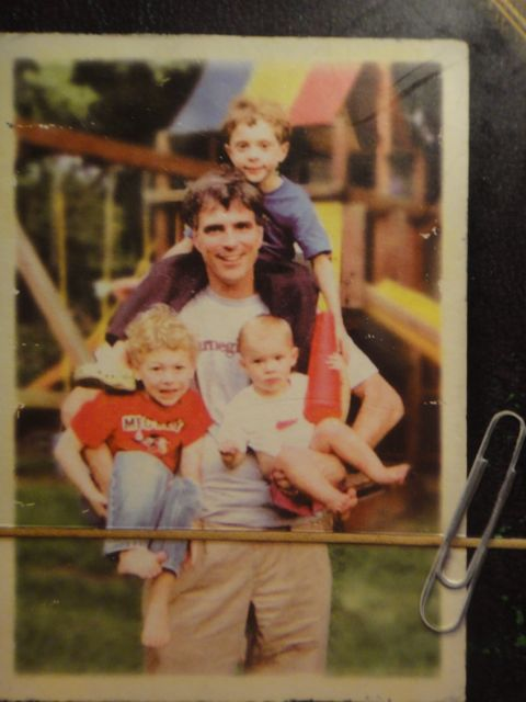 Randy Pausch and his three young children