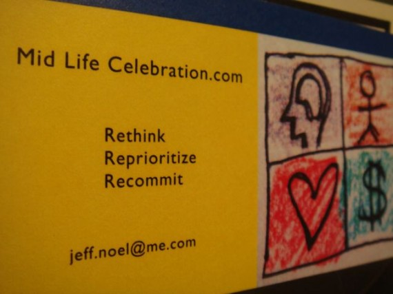 Mid Life Celebration tagline and logo