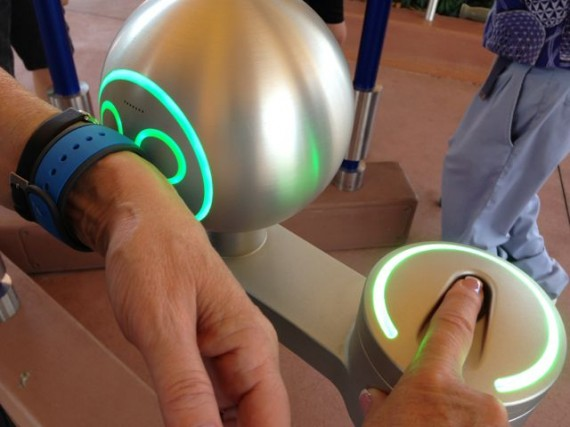 Disney's MagicBand technology used for Theme Park entry