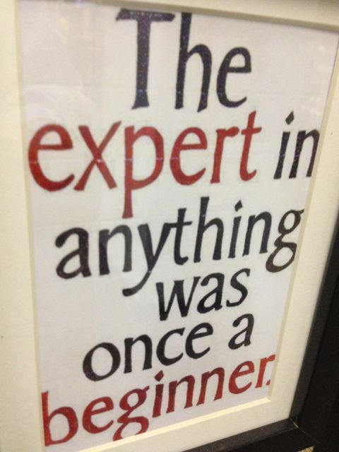 Motivational quote on being an expert