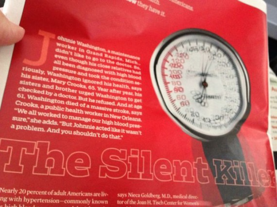 Blood pressure article AARP