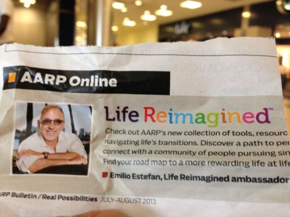 Photo from AARP newsletter about ReImagining life