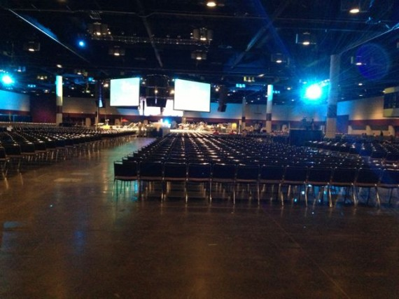 Orange County Convention Center West E room set for 6,000