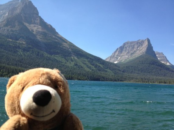 Teddy Bear on Glacier Park's St Mary Lake boat ride