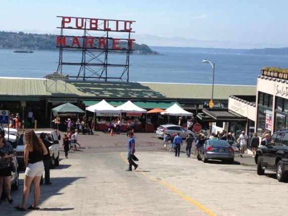 Pike Place Market from a block away