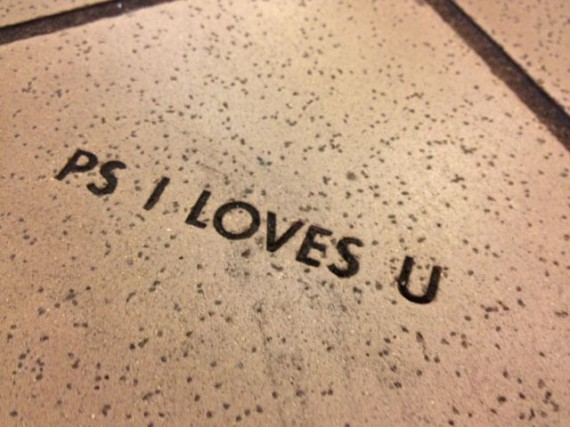 Pike Place Market floor brick with saying