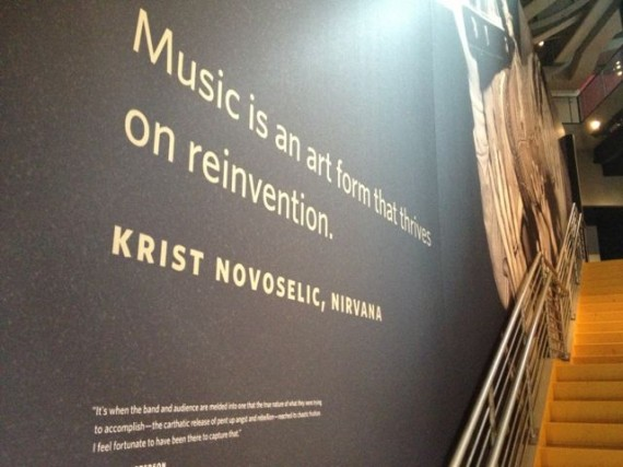 Music history museum wall sign