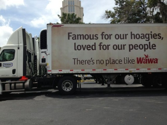 Track Trailer with Wawa slogan