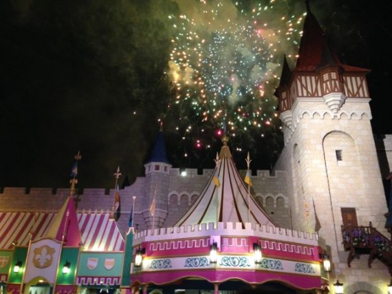 Disney fireworks from Fantasyland