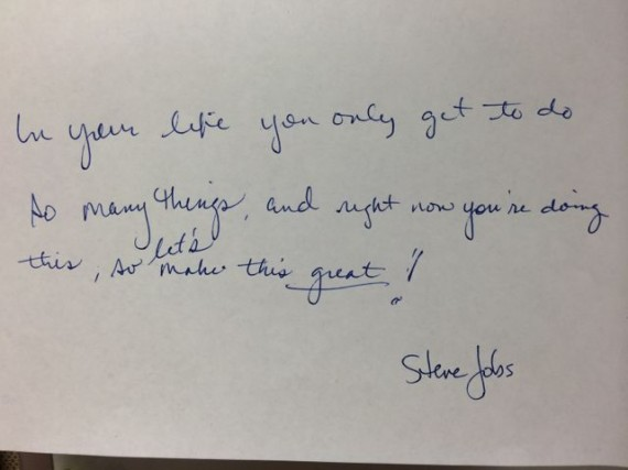 Steve jobs quote from random office cubicle