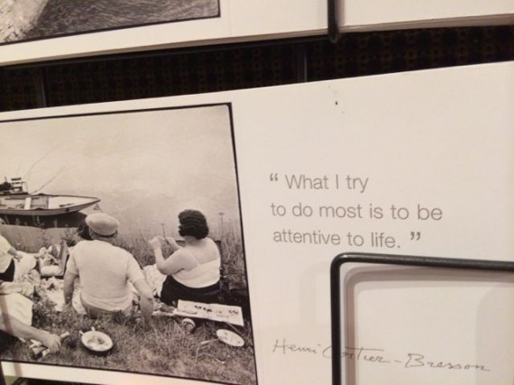 Inspiring note about living