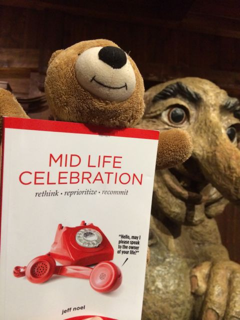 Mid Life Celebration book at Epcot's Norway with Troll