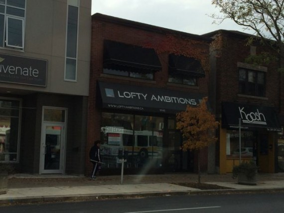 Store front named Lofty Ambitions in Hamilton, ON