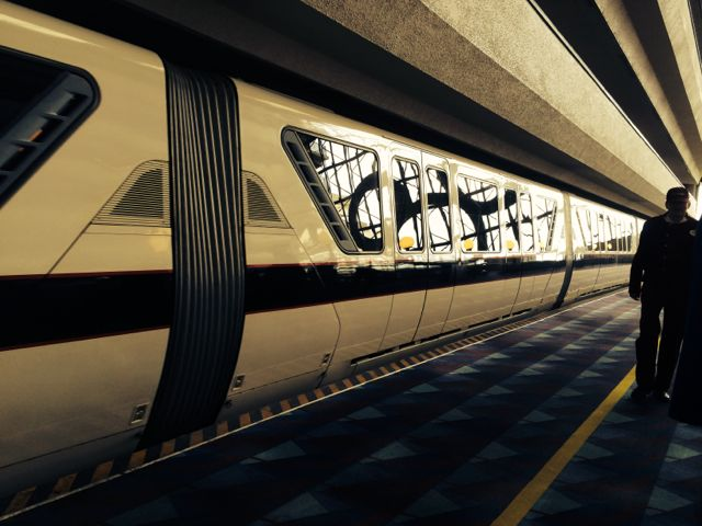 Disney monorail black at Contemporary monorail station