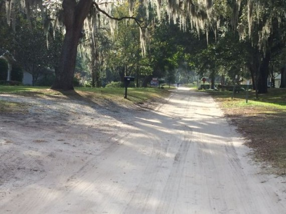 Runner on old Florida dirt road