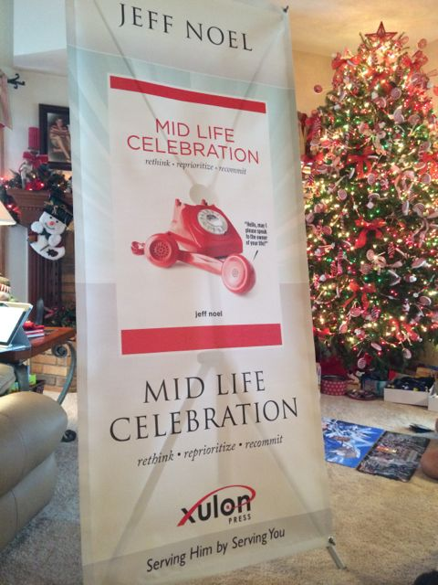 Mid Life Celebration book banner