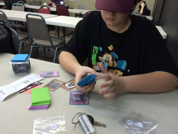 Teen at Yugiho card tournament
