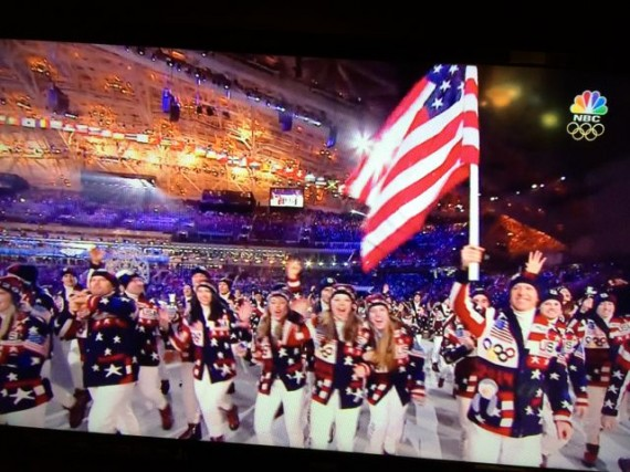 Sochi Olympics opening with Team USA
