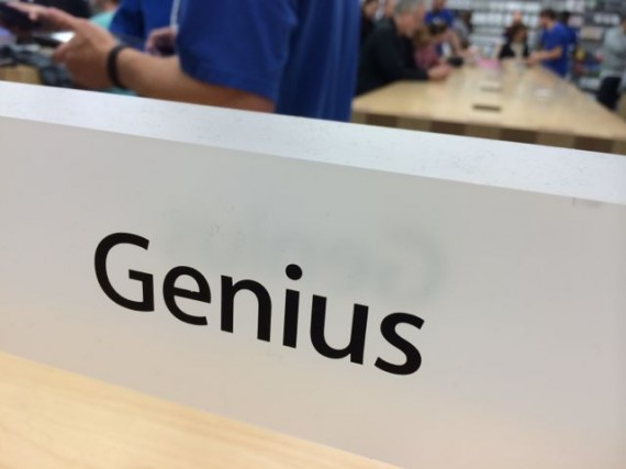 Apple Store Genius Bar sign