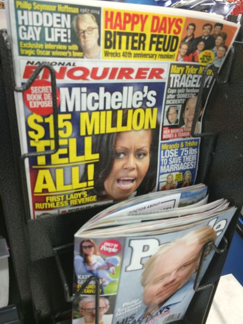 National Inquirer cover with Michelle Obama