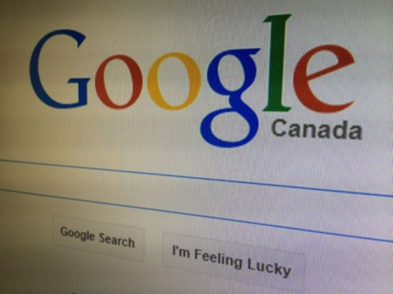 Google Canada screen