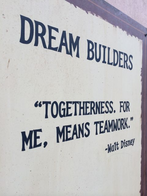 Walt Disney quote on sign at Disney's Animal Kingdom Theme Park