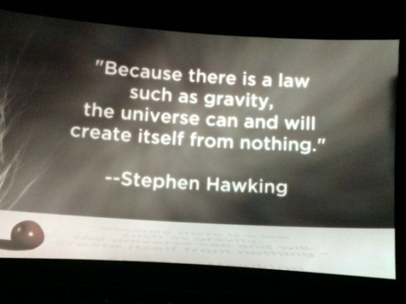 Stephen Hawking quote about the Universe